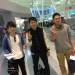 先日、出発された大学生3人@福岡空港 / 国際線